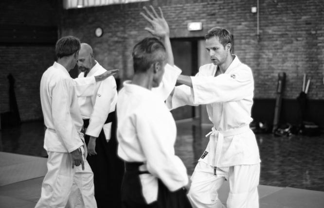 Aikido termen..., Daevid valt aan met shomenuchi