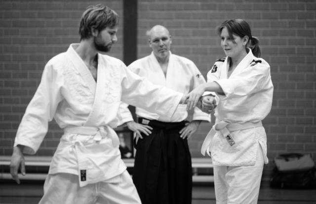 Activiteiten van Aikido Friesland, Koen en Sjoerdtje tijdens een gastles van Marc Jongsten