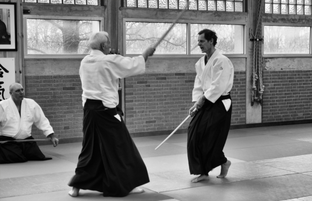 Activiteiten van Aikido Friesland, Machiel tijdens een zwaardstage van Aikidocentrum Leiden