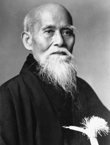 Morihei Ueshiba grondlegger van het Aikido